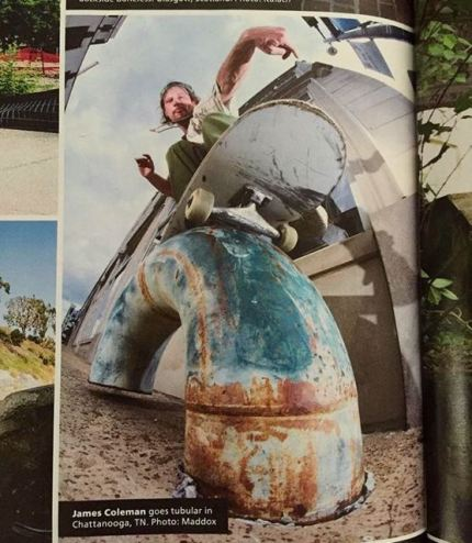 Pipe Grind: Chattanooga, TN, printed in Thrasher Magazine
