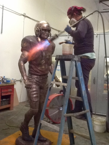 Aiya Jordan adding patina