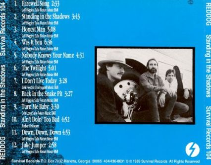 Album Standing back cover